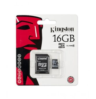 Kingston 16GB microSDHC Memory Card with Adapter