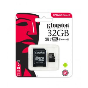 Kingston 32GB microSDHC Memory Card with Adapter