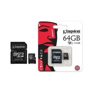 Kingston 64GB microSDXC Memory Card with Adapter