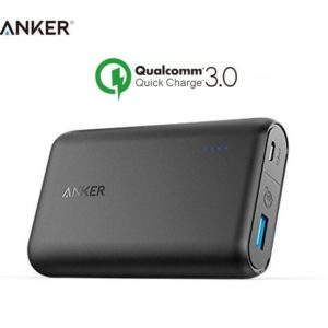 Original Anker A1266011 PowerCore Speed 10000mAh Qualcomm QC 3.0 Power Bank - (18 Month Vendor Official Genuine Warranty)