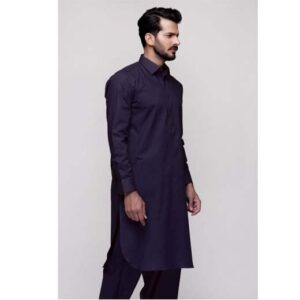 Navy Blue Unstitched Fabric KARANDI SILK MMU