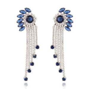 EARING FANCY LNG ZC-SLVR-BLUE